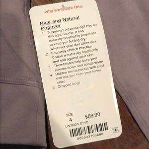 lululemon athletica Jackets & Coats - Lululemon Nice and natural popover